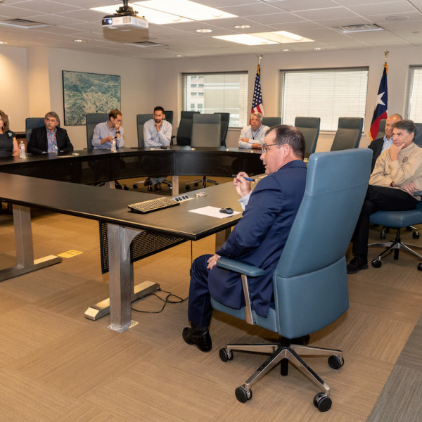 TECO's Steve Swinson briefed Secretary of Energy Rick Perry on TECO's district energy system.