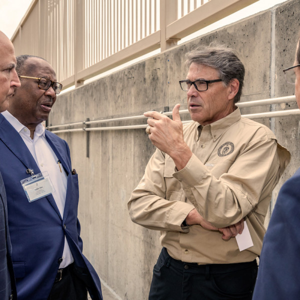 Secretary Perry during a tour of TECO's Central Plant.